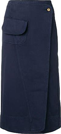 Henrik Vibskov Saia jeans Coco envelope - Azul