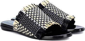 Proenza Schouler Woven leather and bast slides