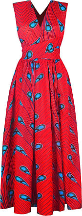 EmilyLe Womens African Boho Vintage Dress Elegant Floor Length High Waist Multiway Bandage Dress Ethnic Costume (XL, Red Blue)