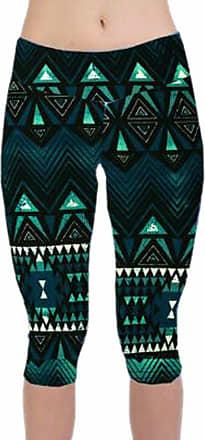 QIYUN.Z Women High Waisted Fitness Yoga Sport Pants Floral Print Stretch Cropped Leggings
