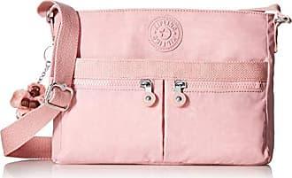 Kipling Womens Angie Crossbody Bag, Adjustable Shoulder Strap, Zip Closure, strawberry pink tonal