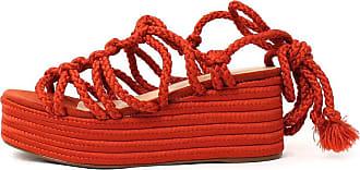 Damannu Shoes Sandália Brooke - Cor: Vermelho - Tamanho: 34