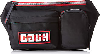 HUGO BOSS Record E_bumbag 10195633 01 Mens Shoulder Bag, Black, 16.5x9x30 centimeters (B x H x T)