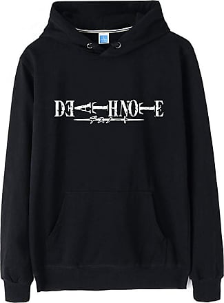 Haililais Death Note Pullover Pullover Sweatshirt Long Sleeve Sweater Outerwear Adult Casual Sports Fashion Wild Warm Men and Women Unisex (Color : Black02, Siz