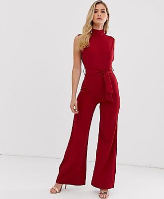 Unique21 Unique21 high neck jumpsuit-Red