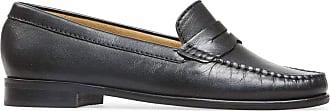 Van Dal Womens Hampden X Wide Fit Black Leather Penny Loafer Flats, Size 41 EU