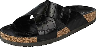 Spot On Ladies Open Toe Slip On Mule - Black Synthetic - UK Size 8 - EU Size 41 - US Size 10