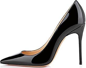 6c131c40eeec39 EDEFS Damen Spitz Pumps Stiletto Absatz Pointed Toe Schuhe Schwarz Größe  EU41