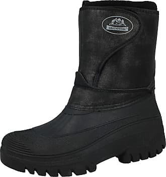 Groundwork New Ladies Horse Riding Yard Showerproof Stable Walking RAIN Snow Winter SKI Warm Farm Mucker Boots (7 UK, Black NU)