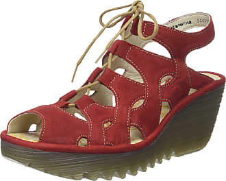 FLY London Womens Yexa916Fly Open Toe Sandals, Red (Lipstick Red), 5 UK 38 EU