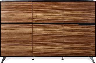 Unique Furniture 400 Collection Storage Cabinet - Zebrano - 496-ZE