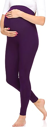 Merry Style Womens Maternity Long Leggings Made from Viscose MS10-297 (Plum, L)