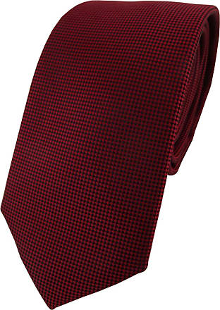TigerTie Modische TigerTie Designer tie necktie in bordeaux dark red dotted