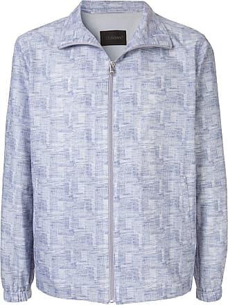 Durban patterned lightweight jacket - Blue