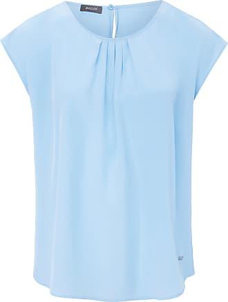 Basler Pull-on style blouse in 100% silk Basler blue