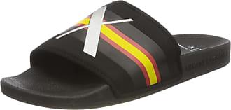 A X Armani Exchange Mens Pool Slides Flip Flops, Black (Black+White Logo 00002), 10 UK