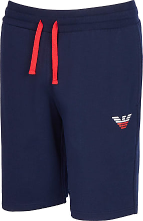 Emporio Armani Mens Homewear - Iconic Terry Bermuda Short, Blue (Marine 00135), 30 (Size: Xx-Large)