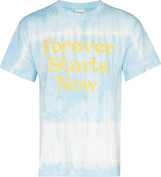 Nasaseasons Camiseta Forever Starts Now com estampa tie dye - Azul