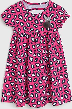 KYLY Vestido Kyly Infantil Onça Rosa
