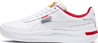 Puma Mens PUMA California Drive Thru Trainers, White/High Risk Red/Blazg Yelw, size 3.5, Shoes