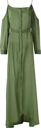 Amir Slama Maxikleid aus Seide - Grün