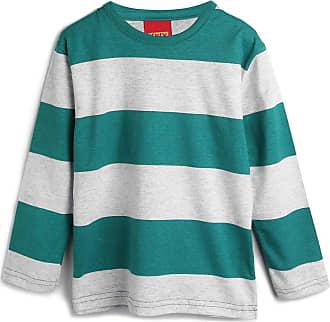 KYLY Camiseta Kyly Menino Listrada Verde/Cinza