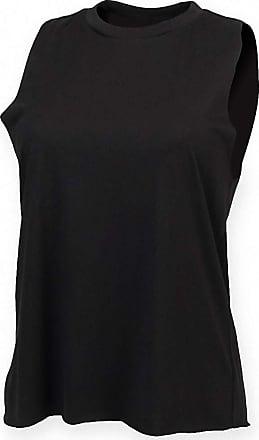 2Store24 Ladies High Neck Slash Armhole Vest in Black Größe: M