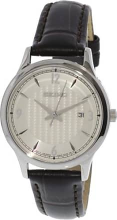 Seiko Womens SXDG95 Silver Leather Japanese Quartz Fashion Watch