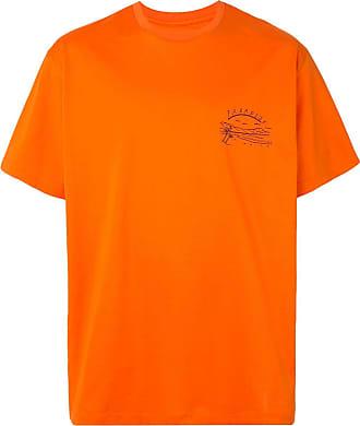 Wooyoungmi Camiseta Paradise com bordado - Laranja