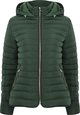 Tokyo Laundry Ginger Quilted Hooded Jacket in Dark Green 10