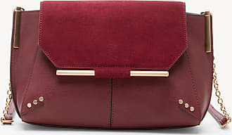 Sole Society Womens Chusy Crossbody Bag Genuine Suede Mix Red Heather Vegan Leather Genuine Suede From Sole Society
