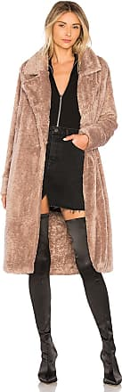 Lovers + Friends Teddy Fur Coat in Brown