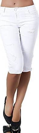 H968 Damen Chino Hose Stoffhose Capri Bermuda Sommerhose Boyfriend Shorts Gürtel