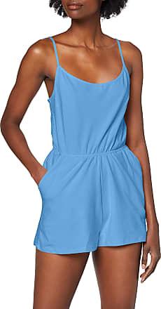 Urban Classics Womens Ladies Short Spaghetti Jumpsuit, Blue (Horizon Blue 01301), XL