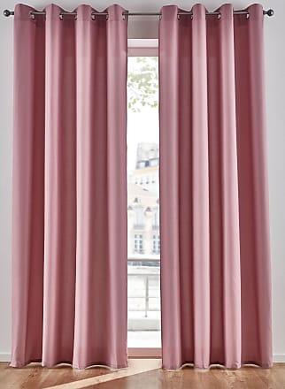 Bonprix Mikrofaser Vorhang (2er Pack) rosa, bonprix