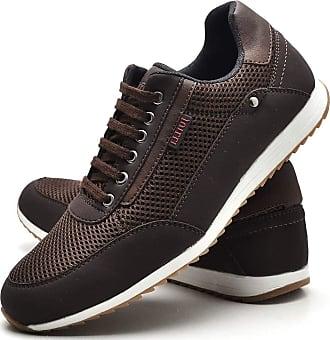 Juilli Sapatênis Sapato Casual Masculino Com Cadarço JUILLI R1100DB Tamanho:42;cor:Marrom;gênero:Masculino