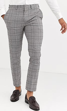 Burton Menswear skinny fit suit trousers in brown retro check