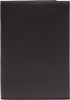 The Row Leather Passport Holder - Mens - Black
