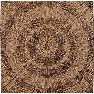 UMA Enterprises Inc. Deco 79 Wood Bulls Eye Wall Art, 47 by 47-Inch, Brown