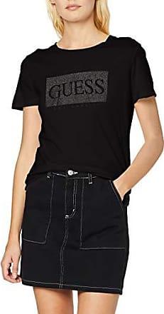 Guess LS Cn Cropped tee Camiseta, Negro (Jet Black A996 Jblk