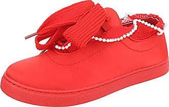 0a8b1e7bebc52e Ital-Design Sneakers Low Damen-Schuhe Sneakers Low Sneakers Schnürsenkel  Freizeitschuhe Rot