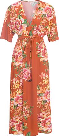 Dress To Vestido Midi Estampa Spicy - Laranja