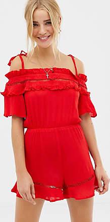 Glamorous Kurzer Jumpsuit-Rot