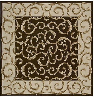 Nourison Versailles Palace (VP43) Chocolate Square Area Rug, 8-Feet by 8-Feet (8 x 8)