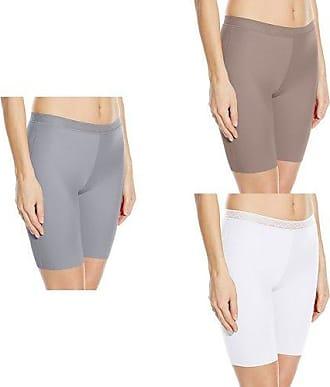 2e88189f7b6a VASSARETTE Vanity Fair Womens Invisibly Smooth Slip Short Panty 12385,  Feather Grey/Walnut/