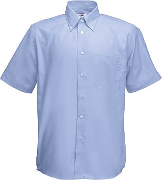Fruit Of The Loom Mens Short Sleeve Oxford Work Shirt