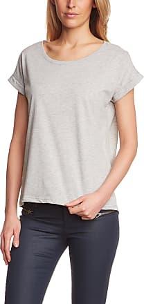 Vila CLOTHES Womens Short Sleeve T-Shirt, Grey (Light Grey Melange), 8 (Manufacturer size: S)
