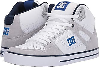 DC Pure High-Top WC (White/Blue) Mens Skate Shoes