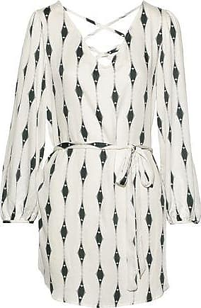 Eberjey Eberjey Woman Voyeur Mika Printed Washed-voile Mini Dress Ivory Size S/M