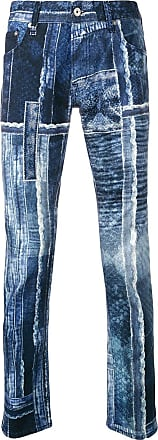 Just Cavalli patchwork slim-fit jeans - Blue